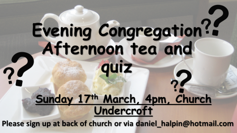Afternoon Tea and Quiz PP
